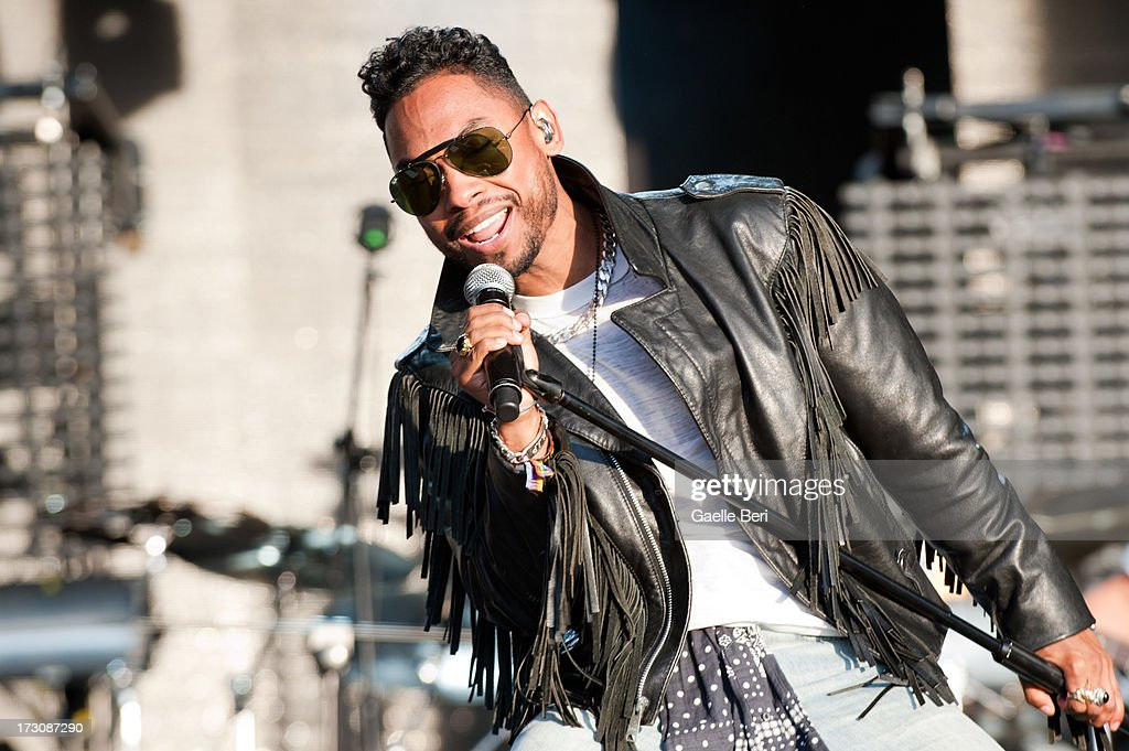 Miguel performs on stage on Day 4 of Open'er Festival 2013 on July 6, 2013 in Gdynia, Poland.