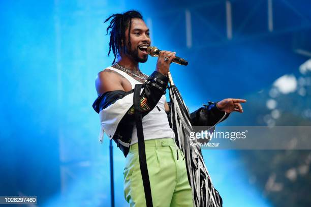 Miguel performs onstage during the 2018 Made In America Festival Day 2 at Benjamin Franklin Parkway on September 2 2018 in Philadelphia Pennsylvania