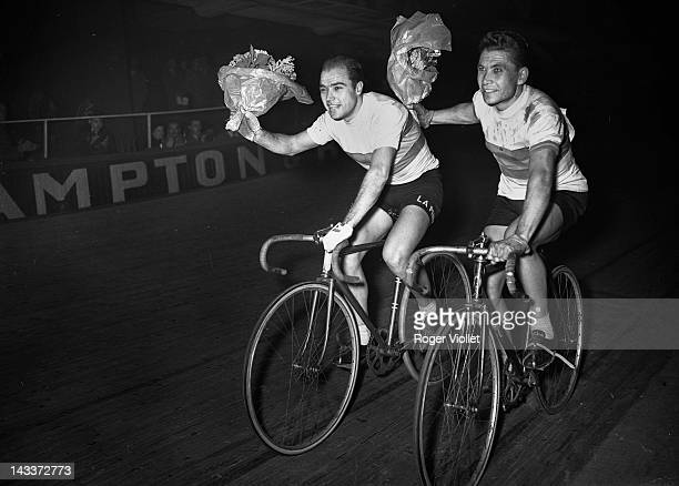Miguel Poblet Spanish racing cyclist Winner of the MilanSan Remo cycle race in 1957 and 1959 and winner of the Grand Prix du Midi Libre in 1955 On...