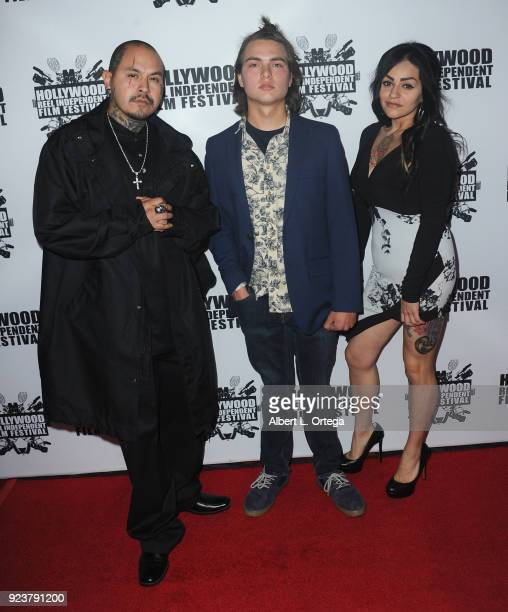 Miguel Ponce Timore Botsen and Irene Soto attends the 17th Annual Hollywood Reel Independent Film Festival Award Ceremony Red Carpet Event held at...