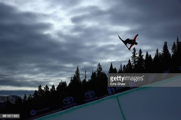 Miguel Porteus of New Zealand competes in the Superpipe qualification during Day 1 of the Dew Tour on December 13 2017 in Breckenridge Colorado