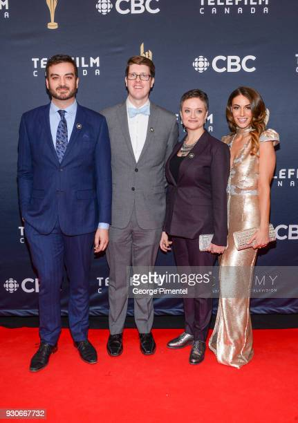 Miguel Rivas Dave Barclay Marilla Wex and Laura Cilevitz arrive at the 2018 Canadian Screen Awards at the Sony Centre for the Performing Arts on...