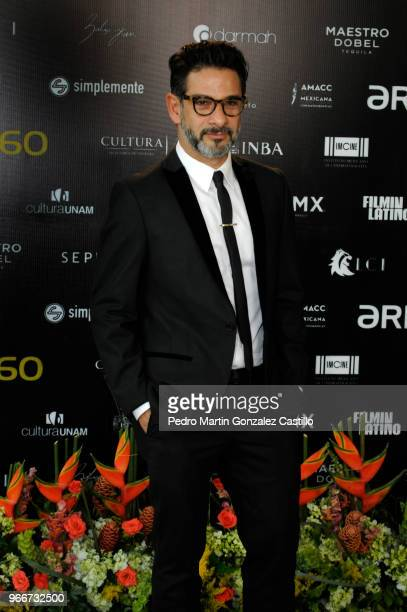 Miguel Rodarte from the film 'Tiempo Compartido' and nominated for Best Actor in a Supporting Role poses during a photocall ahead of 60th Ariel...