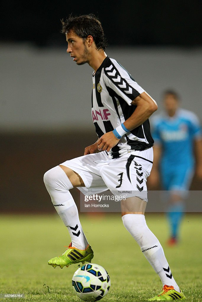 Miguel Rodrigues of CD National during a pre-season friendly match between CD National and Sunderland at the Estadio Municipal Albufeira on July 30, 2014 in Albufeira, Portugal.