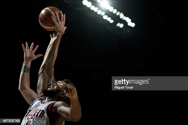 Miguel Ruiz of Venezuela goes up for a rebound during a second stage match between Venezuela and Uruguay as part of the 2015 FIBA Americas...