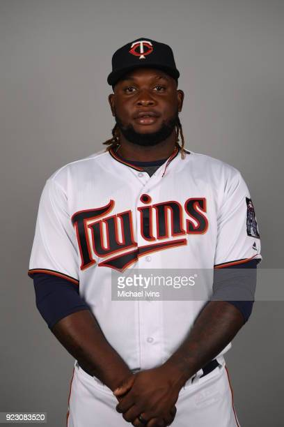 Miguel Sanó of the Minnesota Twins poses during Photo Day on Wednesday February 21 2018 at CenturyLink Sports Complex in Fort Myers Florida