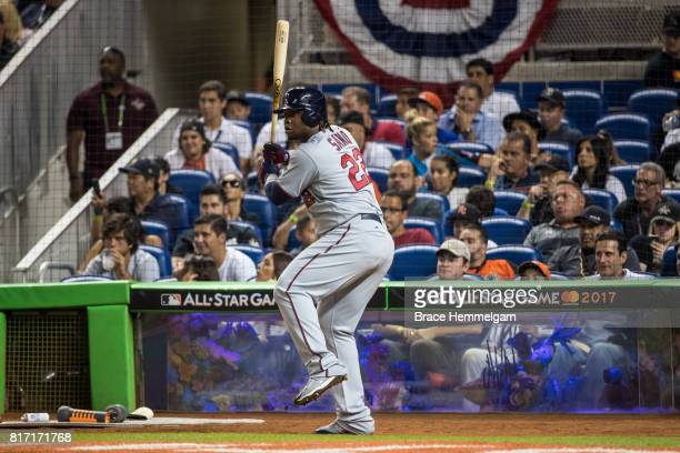 Miguel Sano of the Minnesota Twins and the American League bats during the 88th MLB AllStar Game at Marlins Park on July 11 2017 in Miami Florida