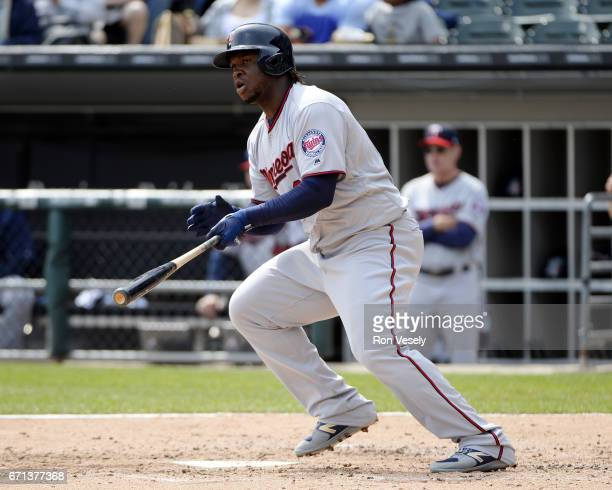 Miguel Sano of the Minnesota Twins bats against the Chicago White Sox on April 9 2017 at Guaranteed Rate Field in Chicago Illinois
