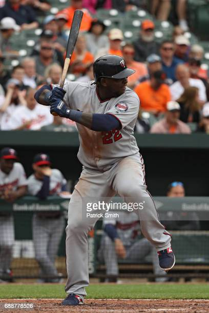 Miguel Sano of the Minnesota Twins bats Baltimore Orioles at Oriole Park at Camden Yards on May 24 2017 in Baltimore Maryland