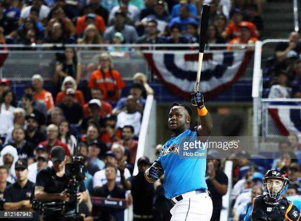 Miguel Sano of the Minnesota Twins competes in the TMobile Home Run Derby at Marlins Park on July 10 2017 in Miami Florida