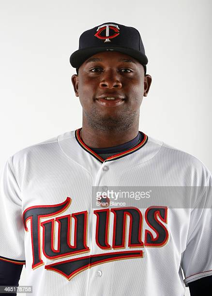 Miguel Sano of the Minnesota Twins poses for a photo on March 3 2015 at Hammond Stadium in Fort Myers Florida