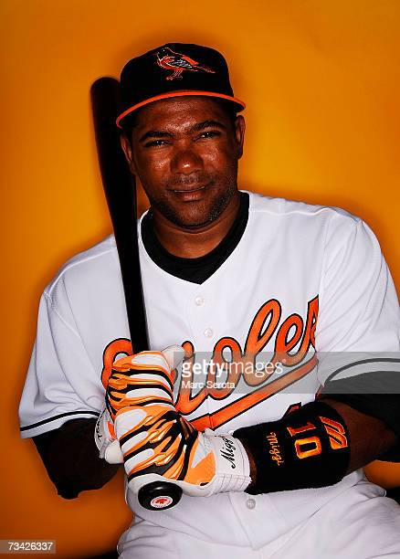 Miguel Tejada of the Baltimore Orioles poses during Photo Day at Ft Lauderdale Stadium on February 26 2007 in Ft Lauderdale Florida
