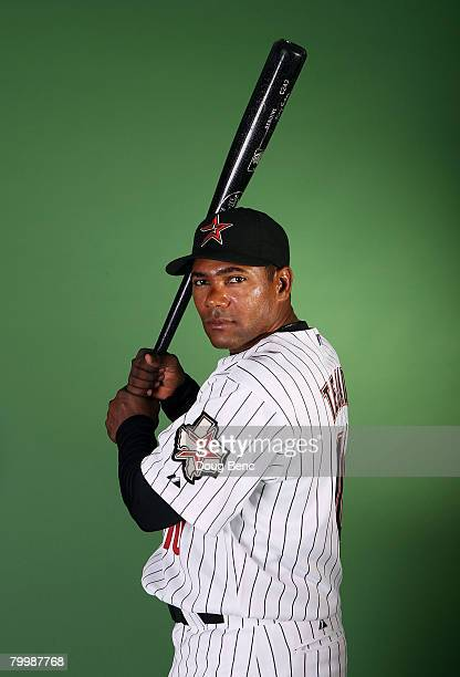 Miguel Tejada of the Houston Astros poses during spring training photo day at Osceola County Stadium on February 25 2008 in Kissimmee Florida