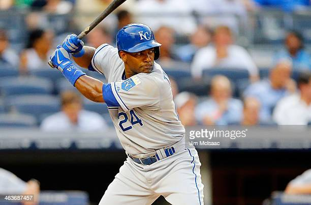 Miguel Tejada of the Kansas City Royals in action against the New York Yankees at Yankee Stadium on July 9 2013 in the Bronx borough of New York City...