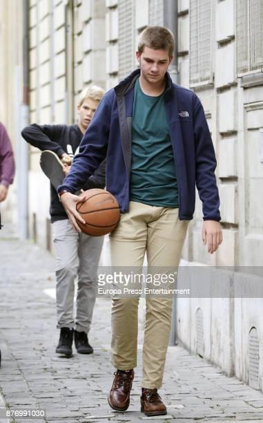 Miguel Urdangarin and Juan Valentin Urdangarin are seen during Juan Valentin Urdangarin's 18th birthday on October 1 2017 in Geneva Switzerland
