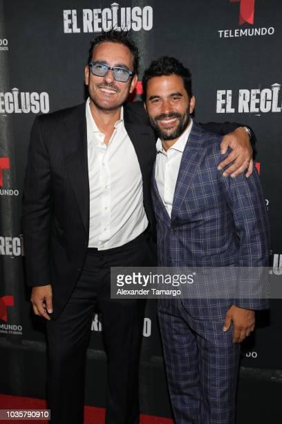 Miguel Varoni and Ignacio Serricchio are seen at the 'El Recluso' private screening at Telemundo Center on September 18 2018 in Miami Florida
