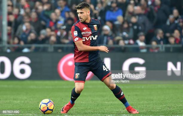 Miguel Veloso in action during the serie A match between Genoa CFC and Benevento Calcio at Stadio Luigi Ferraris on December 23 2017 in Genoa Italy