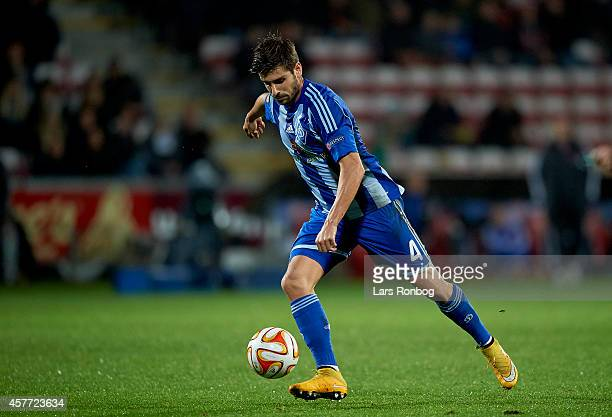 Miguel Veloso of Dynamo Kyiv controls the ball during the UEFA Europa League match between AaB Aalborg and Dynamo Kyiv at Nordjyske Arena on October...