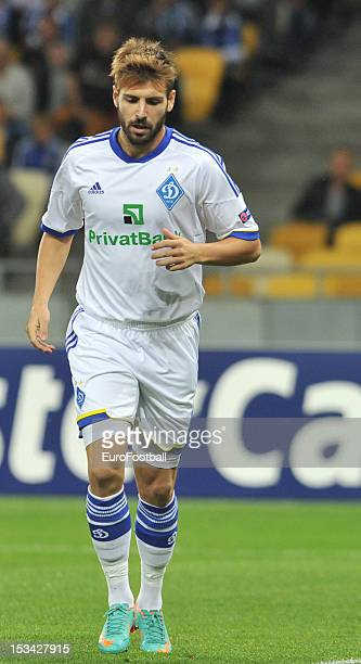 Miguel Veloso of FC Dynamo Kyiv in action during the UEFA Champions League group stage match between FC Dynamo Kyiv and GNK Dinamo Zagreb at the...