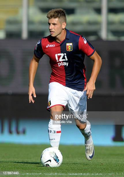 Miguel Veloso of Genoa CFC in action during the Serie A match between Parma FC and Genoa CFC at Stadio Ennio Tardini on October 2 2011 in Parma Italy