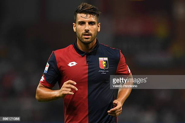 Miguel Veloso of Genoa CFC looks on during the Serie A match between Genoa CFC and Cagliari Calcio at Stadio Luigi Ferraris on August 21 2016 in...
