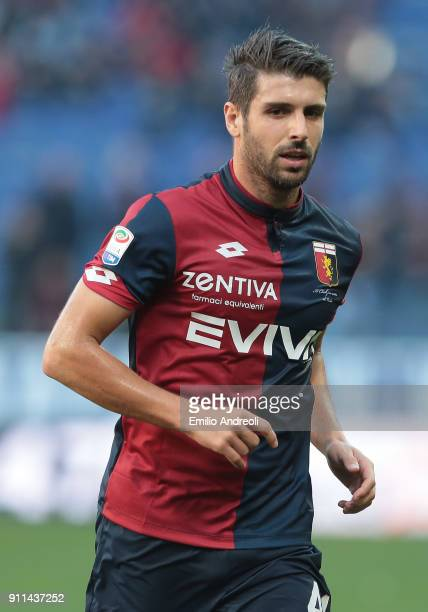 Miguel Veloso of Genoa CFC looks on during the serie A match between Genoa CFC and Udinese Calcio at Stadio Luigi Ferraris on January 28 2018 in...