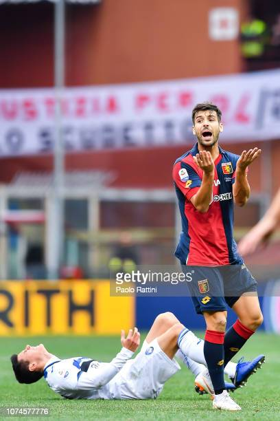 Miguel Veloso of Genoa during the Serie A match between Genoa CFC and Atalanta BC at Stadio Luigi Ferraris on December 22 2018 in Genoa Italy