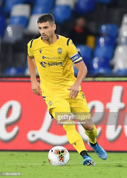 Miguel Veloso of Hellas Verona during the Serie A match between SSC Napoli and Hellas Verona at Stadio San Paolo on October 19 2019 in Naples Italy