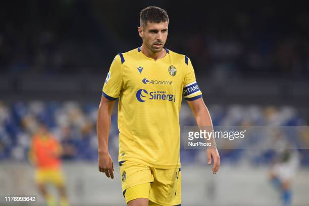 Miguel Veloso of Hellas Verona during the Serie A TIM match between SSC Napoli and Hellas Verona at Stadio San Paolo Naples Italy on 19 October 2019