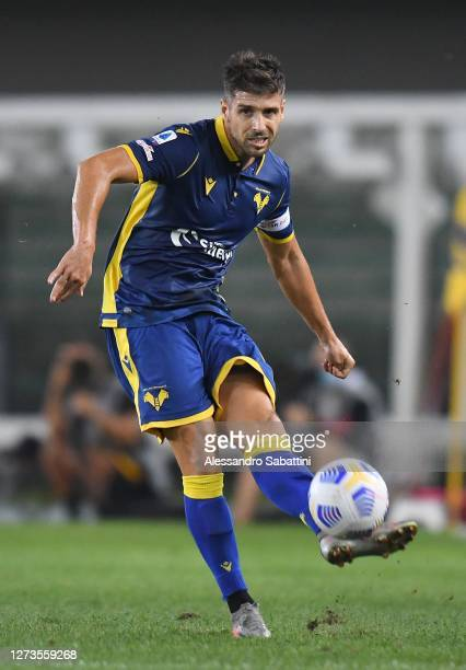 Miguel Veloso of Hellas Verona in action during the Serie A match between Hellas Verona FC and AS Roma at Stadio Marcantonio Bentegodi on September...