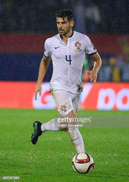 Miguel Veloso of Portugal in action during the Euro 2016 qualifying football match between Serbia and Portugal at the Stadium FC Partizan in Belgrade...