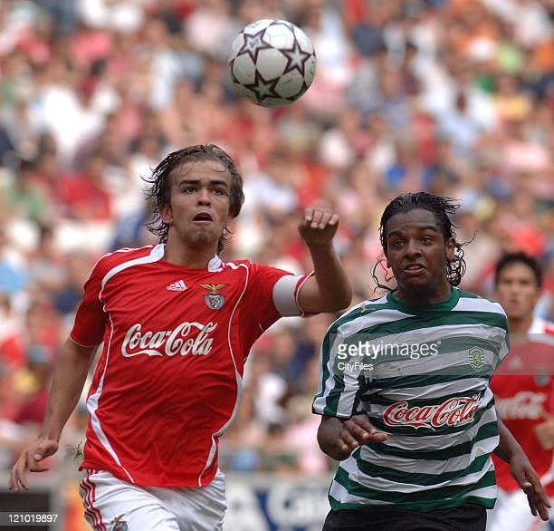 Miguel Vitor and Alison Almeida during the Portuguese Under18 Championship match between SL Benfica and Sporting Lisbon on June 7 2007