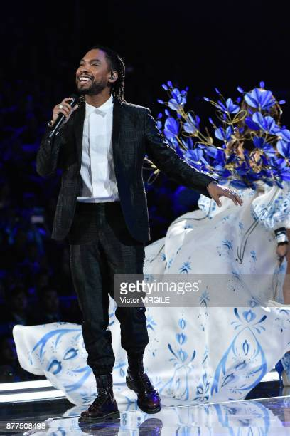 Miguel walks the runway at the 2017 Victoria's Secret Fashion Show In Shanghai Show at MercedesBenz Arena on November 20 2017 in Shanghai China