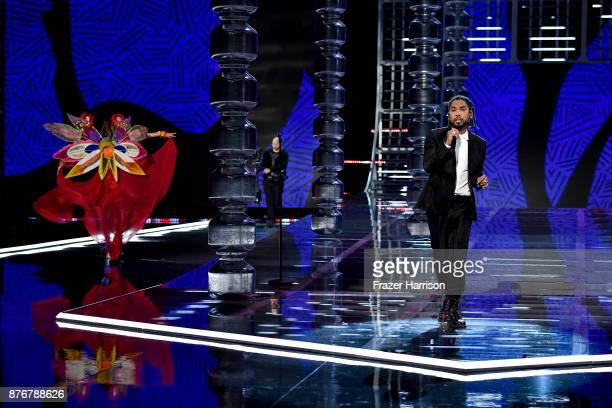Miguel walks the runway during the 2017 Victoria's Secret Fashion Show In Shanghai at MercedesBenz Arena on November 20 2017 in Shanghai China