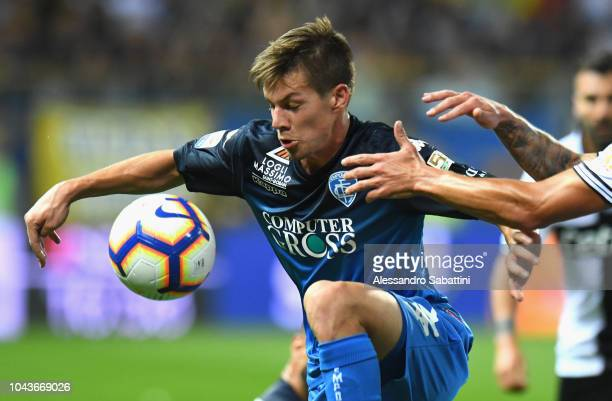 Miha Zajc of Empoli Fc in action during the Serie A match between Parma Calcio and Empoli at Stadio Ennio Tardini on September 30 2018 in Parma Italy