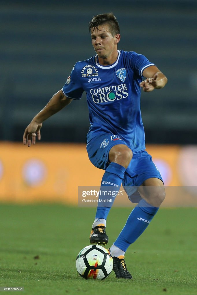 Miha Zajc of Empoli Fc in action during the TIM Cup match between Empoli FC and Renate at Stadio Carlo Castellani on August 5, 2017 in Empoli, Italy.