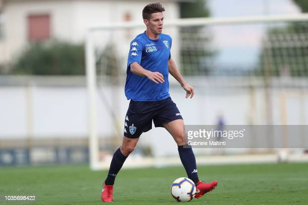 Miha Zajc of Empoli FC in action during training session on September 18 2018 in Empoli Italy