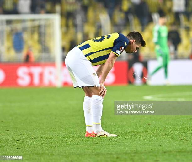 Miha Zajc of Fenerbahce during the UEFA Europa League group D match between Fenerbahce and Royal Antwerp FC at sukru Saracoglu Stadium on October 21,...