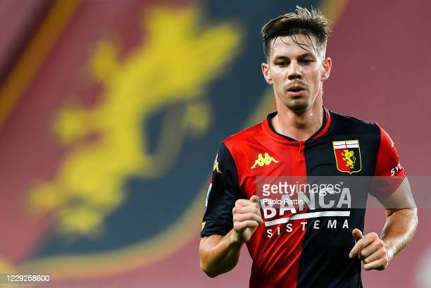 Miha Zajc of Genoa during the Serie A match between Genoa CFC and Fc Internazionale at Stadio Luigi Ferraris on September 20, 2020 in Genoa, Italy.