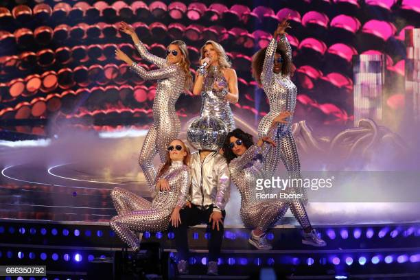 Mihaela Cataj during the first event show of the tv competition 'Deutschland sucht den Superstar' at Coloneum on April 8 2017 in Cologne Germany 13...