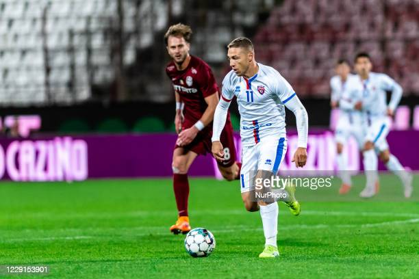 Mihai Roman in action during the 7th game in the Romania League 1 between CFR Cluj and FC Botosani, at Dr.-Constantin-Radulescu-Stadium, Cluj-Napoca,...
