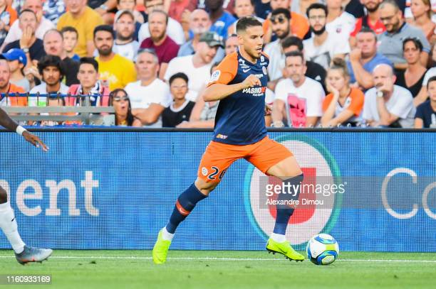 Mihailo Ristic of Montpellier during the Ligue 1 match between Montpellier and Rennes at Stade de la Mosson on August 10 2019 in Montpellier France