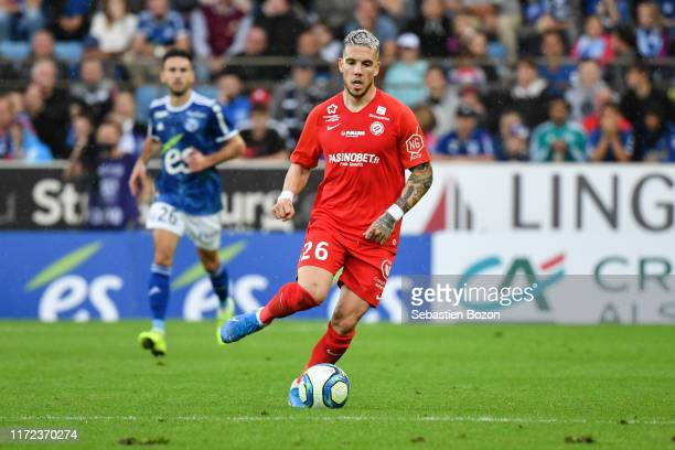 Mihailo RISTIC of Montpellier during the Ligue 1 match between Strasbourg and Montpellier on September 29 2019 in Strasbourg France