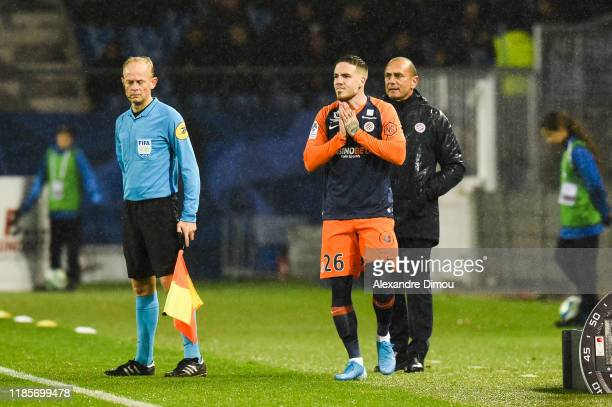 Mihailo RISTIC of Montpellier during the Ligue 1 match between Montpellier and Amiens at Stade de la Mosson on November 30 2019 in Montpellier France