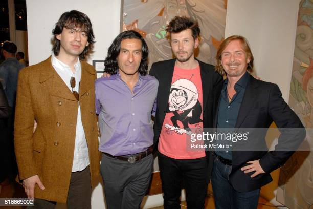 Mihailo Vukelic Eric Allouche Andre Monet and Christian Voigt attend Opera Gallery Opening Voigt Monet and Vukelic at Opera Gallery on April 15 2010...