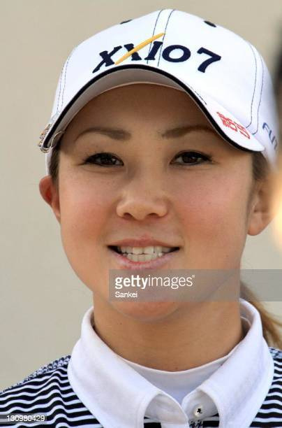 Miho Koga looks on during the Pro and Amateur Game of the Weider Ladies 2011 at Morinaga Takataki Country Club on October 28 2011 in Ichihara Chiba...