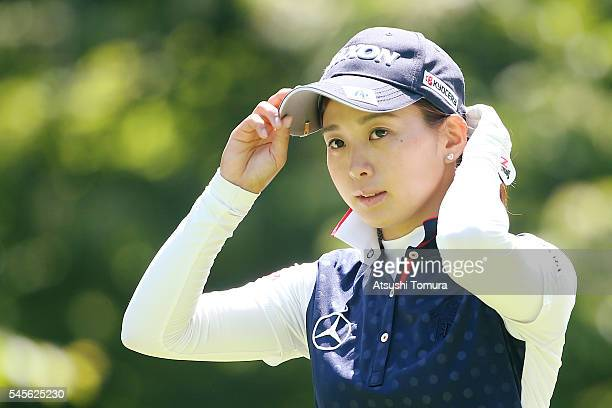 Miho Mori of Japan looks on during the second round of the Nipponham Ladies Classics at the Ambix Hakodate Club on July 9 2016 in Hokuto Japan