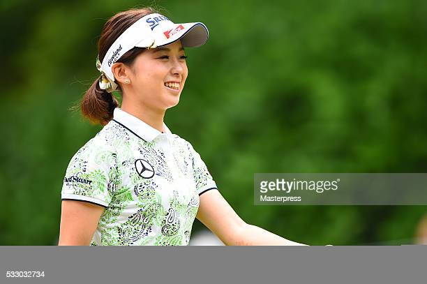 Miho Mori of Japan smiles during the first round of the Chukyo Television Bridgestone Ladies Open at the Chukyo Golf Club Ishino Course on May 20...