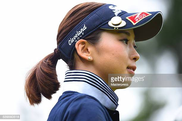 Miho Mori of Japanlooks on during the final round of the Suntory Ladies Open at the Rokko Kokusai Golf Club on June 12 2016 in Kobe Japan