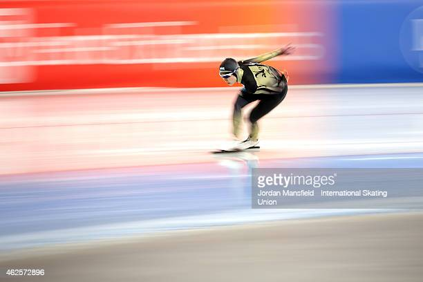 Miho Takagi of Japan competes in the 1500m Ladies Division B on day 1 of the ISU Speed Skating World Cup at the Hamar Olympic Hall on January 31 2015...